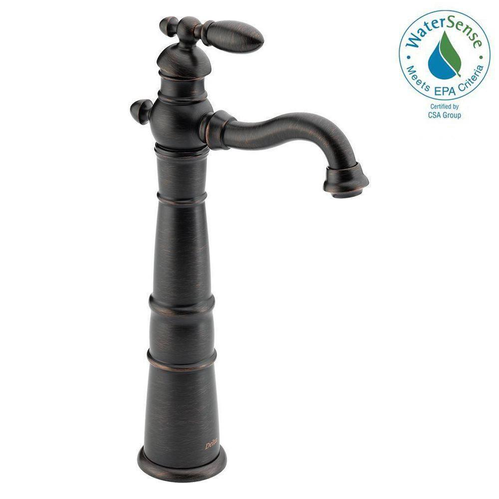 Delta Victorian Single Hole Single-Handle Vessel Bathroom Faucet in ...