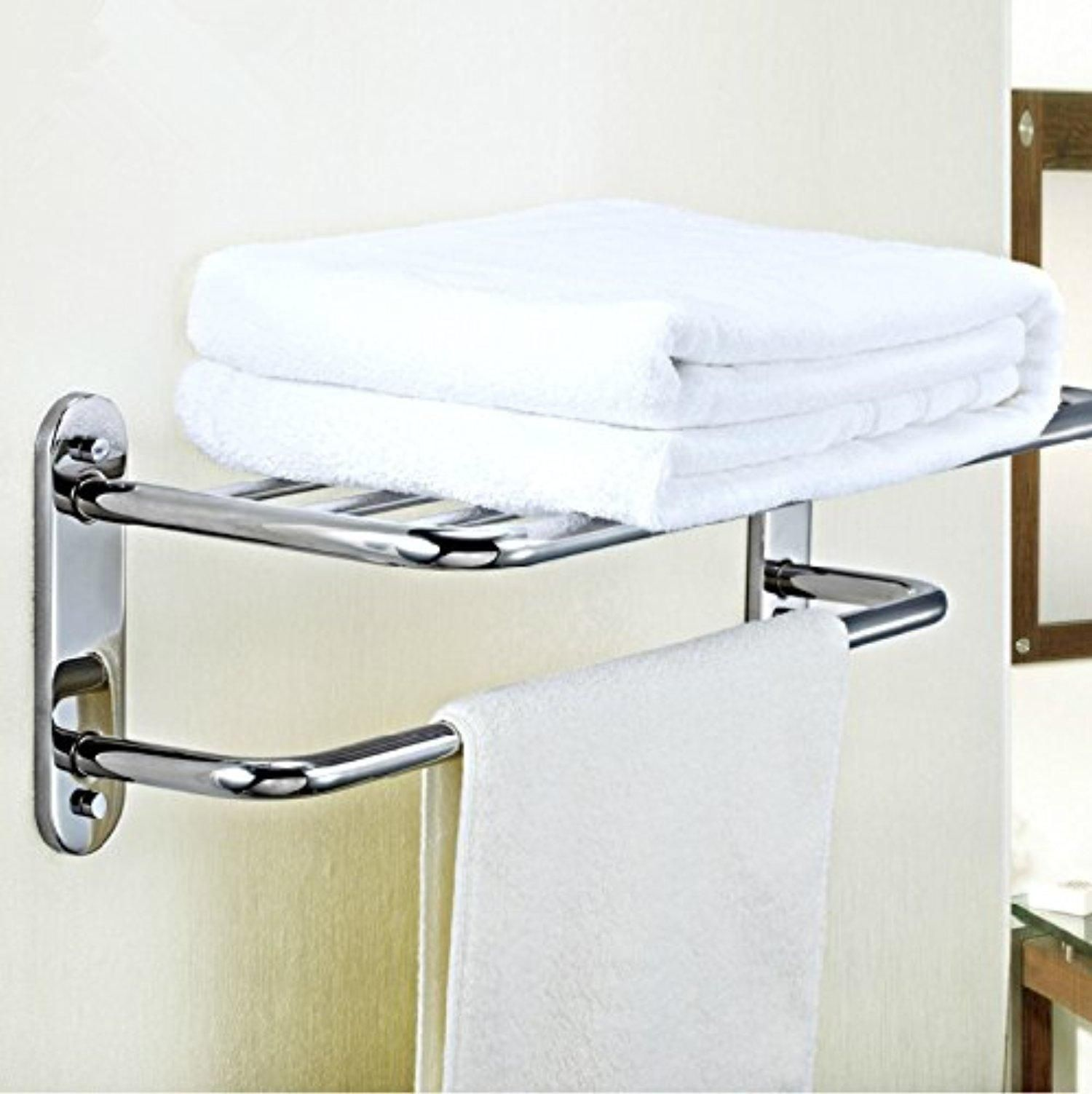 Towel Bar Holder For Bathroom Or Kitchen Organize It All Shelf With