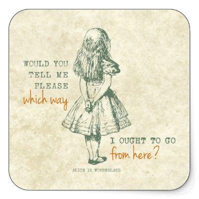 Alice in Wonderland Square Stickers