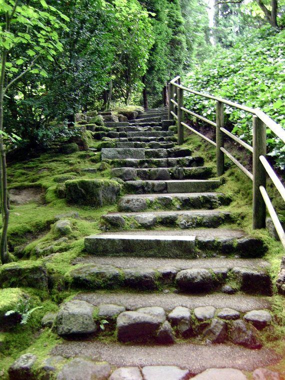 Japanese Garden Stairs Garden Stairs Japanese Garden Sloped Garden