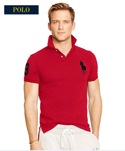 大馬polo衫 經典馬球3號男款翻領短袖t恤 紅色