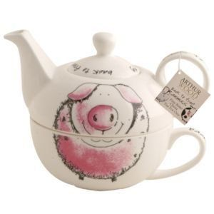 pig teapot for one