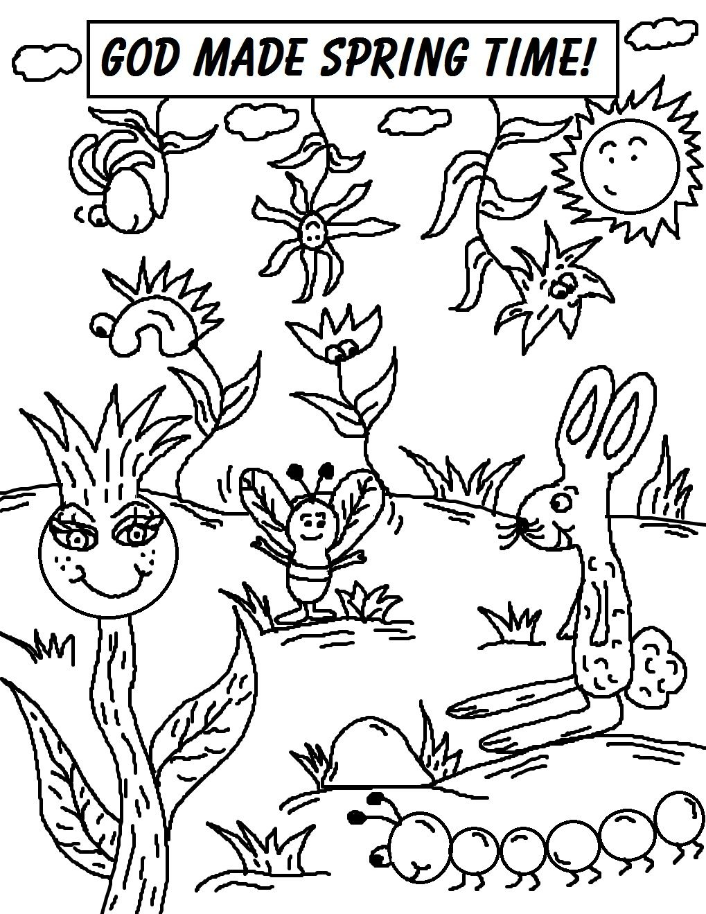 Printable Spring Coloring Pages | Creation Printables | Pinterest ...