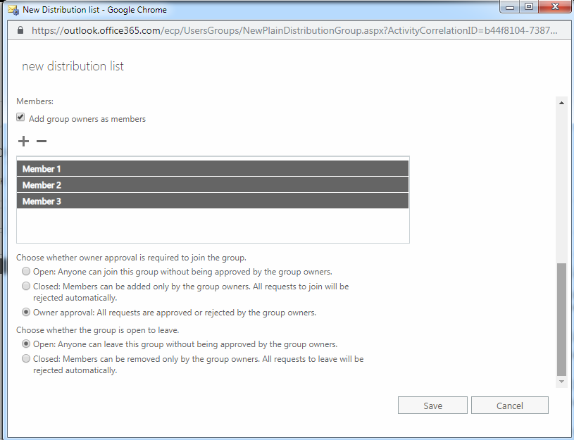 Create A Distribution List Or Group In Office 365 Add Members Office 365 List Office