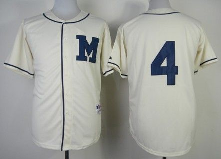 2014 NEW MLB Milwaukee Brewers blank cream jerseys