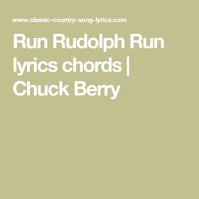 Run Rudolph Run lyrics chords | Chuck Berry | Christmas chords ...