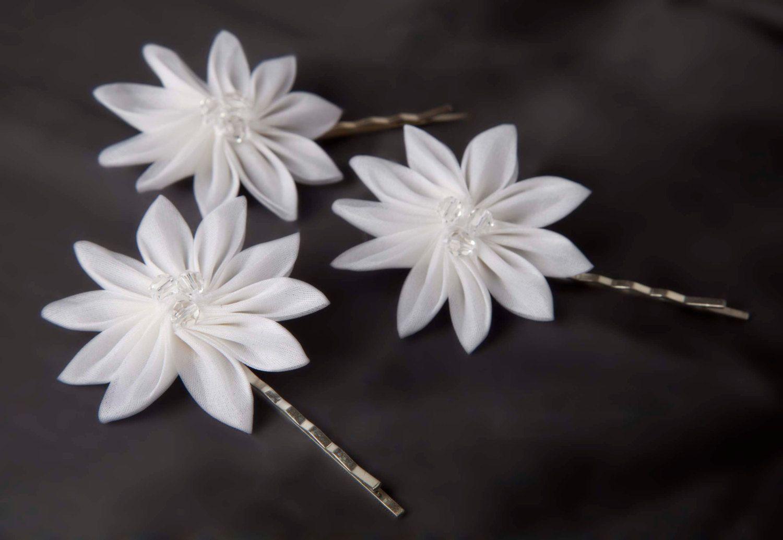 Silk flowers hair clips edelweiss 3850 via etsy parties silk flowers hair clips edelweiss 3850 via etsy mightylinksfo
