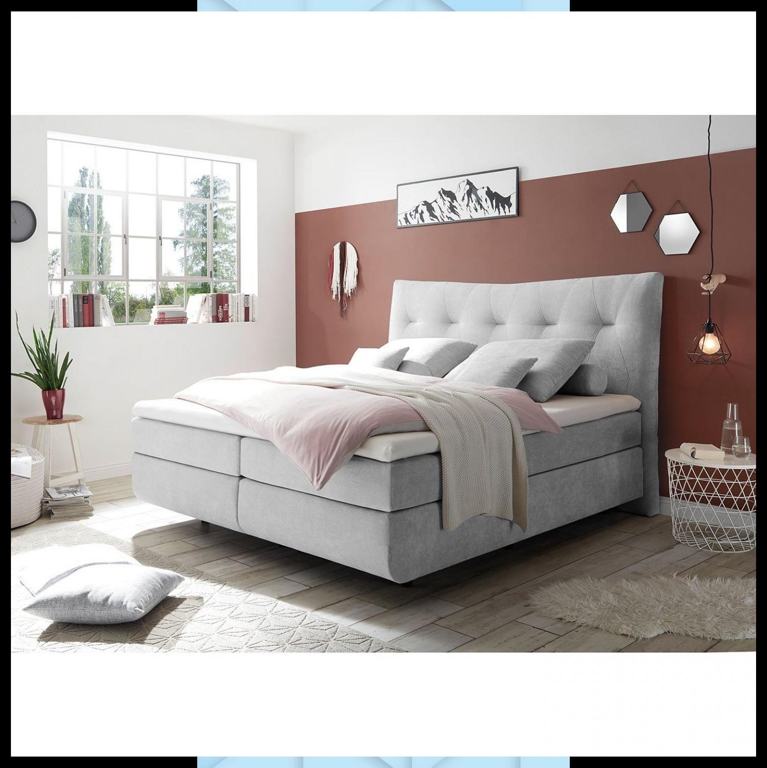 Fredriks Boxspringbett Tibery 180x200 Cm Synthetikfaser Silber Mit Matratze Topper In 2020 Remodel Bedroom Small Bedroom Remodel Cozy Dorm Room