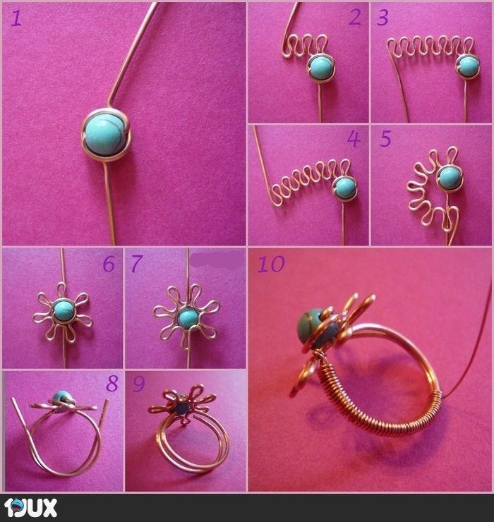 Blumen Ring Tutorial | Schmuck herstellen | Pinterest | Schmuck ...