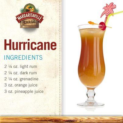 Hurricane Blender Drinks Hurricane Drink Recipe Bar Drinks