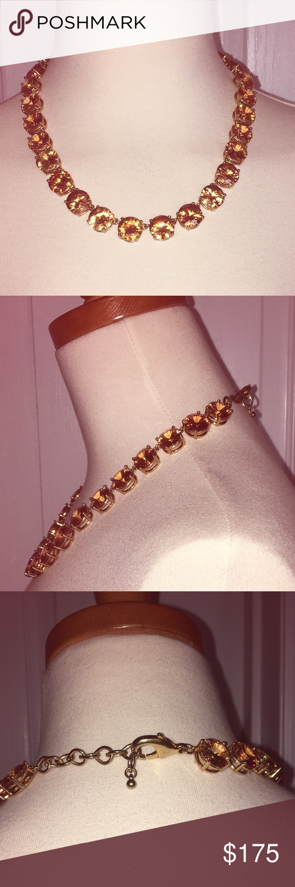 Citrine stone necklace Beautiful costume jewelry piece to dress up any outfit! Unsure of designer but was purchased at Neiman Marcus. Jewelry Necklaces