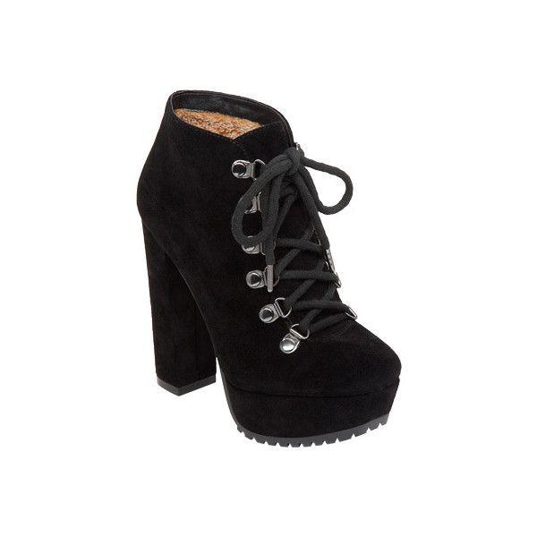 Women's Jessica Simpson Gannan Platform Bootie - Black Split Suede... ($107)