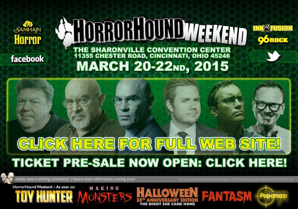 Horrorhound Weekend-Cincinnati & Indianapolis -My First Convention in Cincinnati March 2010