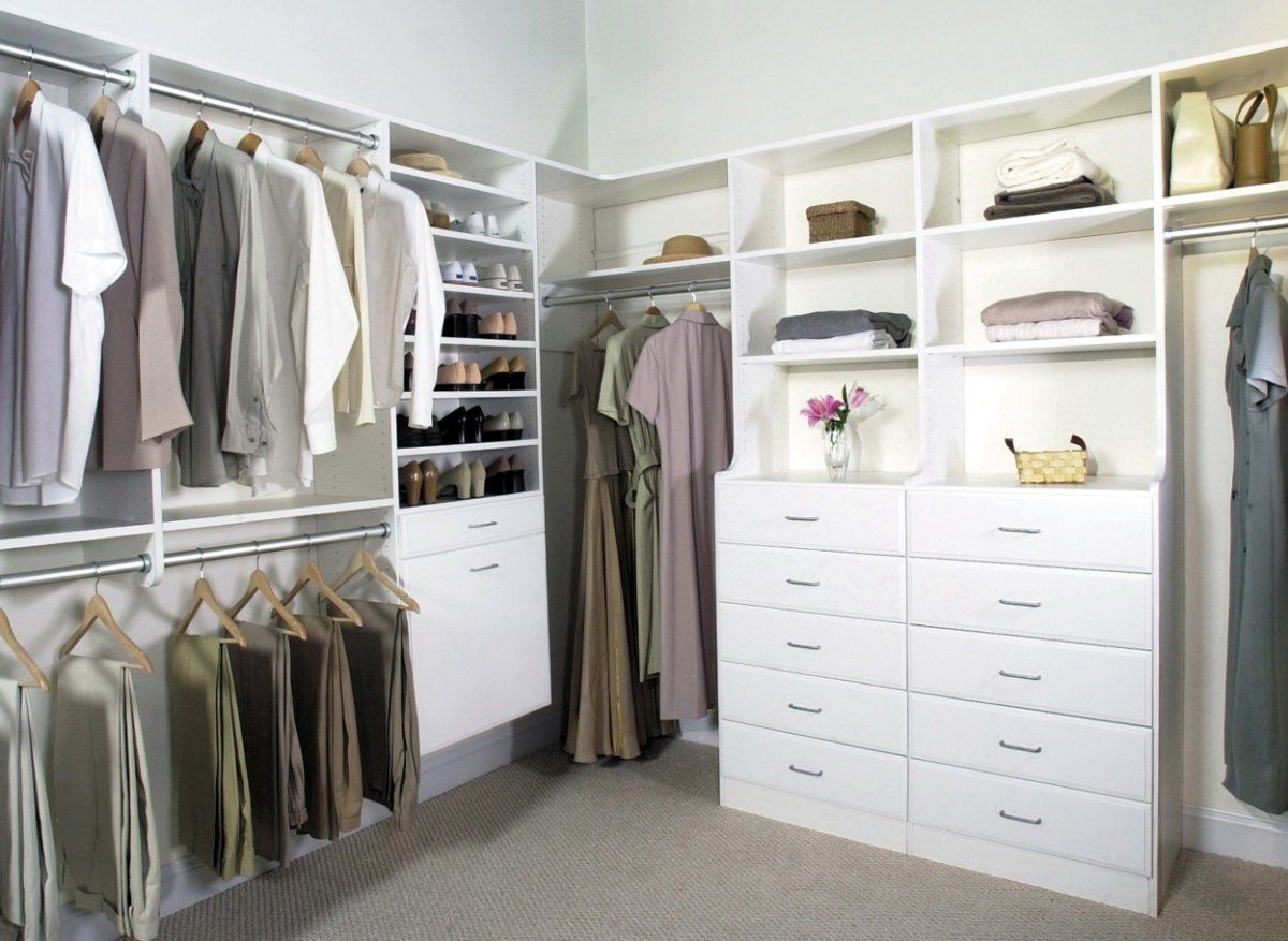 Lowes Closet Rod Mesmerizing Deluxe White Wooden Closet Storage Systems Lowes With Corner Closet
