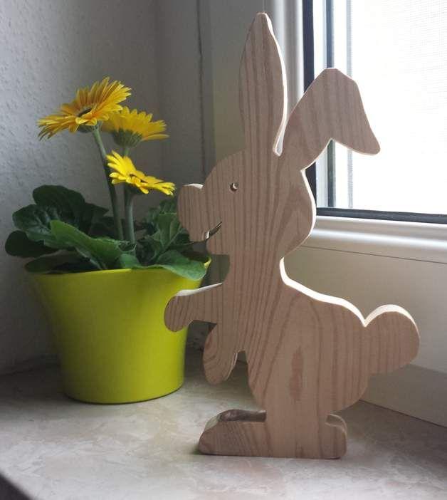 Produkttitel: Osterhase Holz Frühling Deko Fensterdeko ...