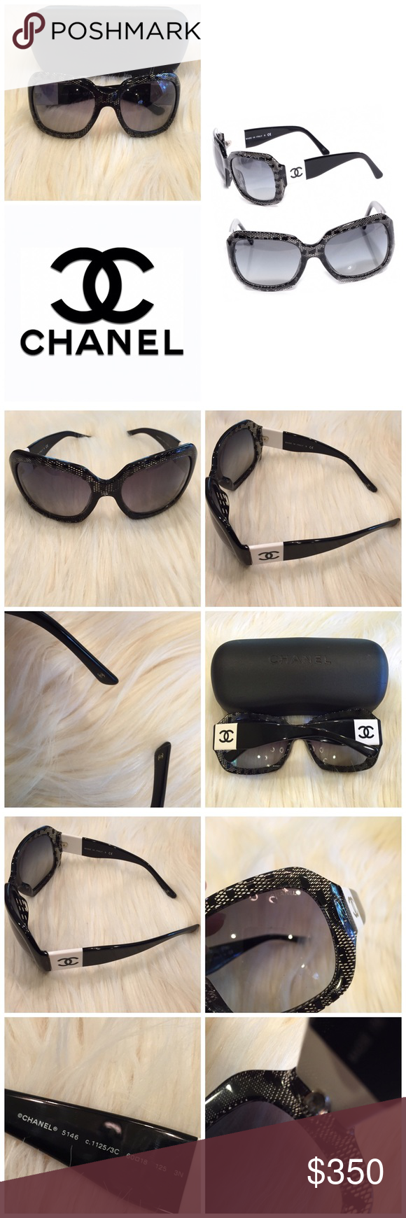 c31bf1fc911f CHANEL LACE EFFECT 5146 SUNGLASSES I was given these as a gift and already  had Chanel glasses in black. NWOT