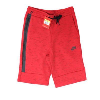 a53f0aabc6e3 NWT Nike Men s TECH FLEECE Shorts AUTHENTIC Light Crimson Black 628984-696  SZ M Clothing
