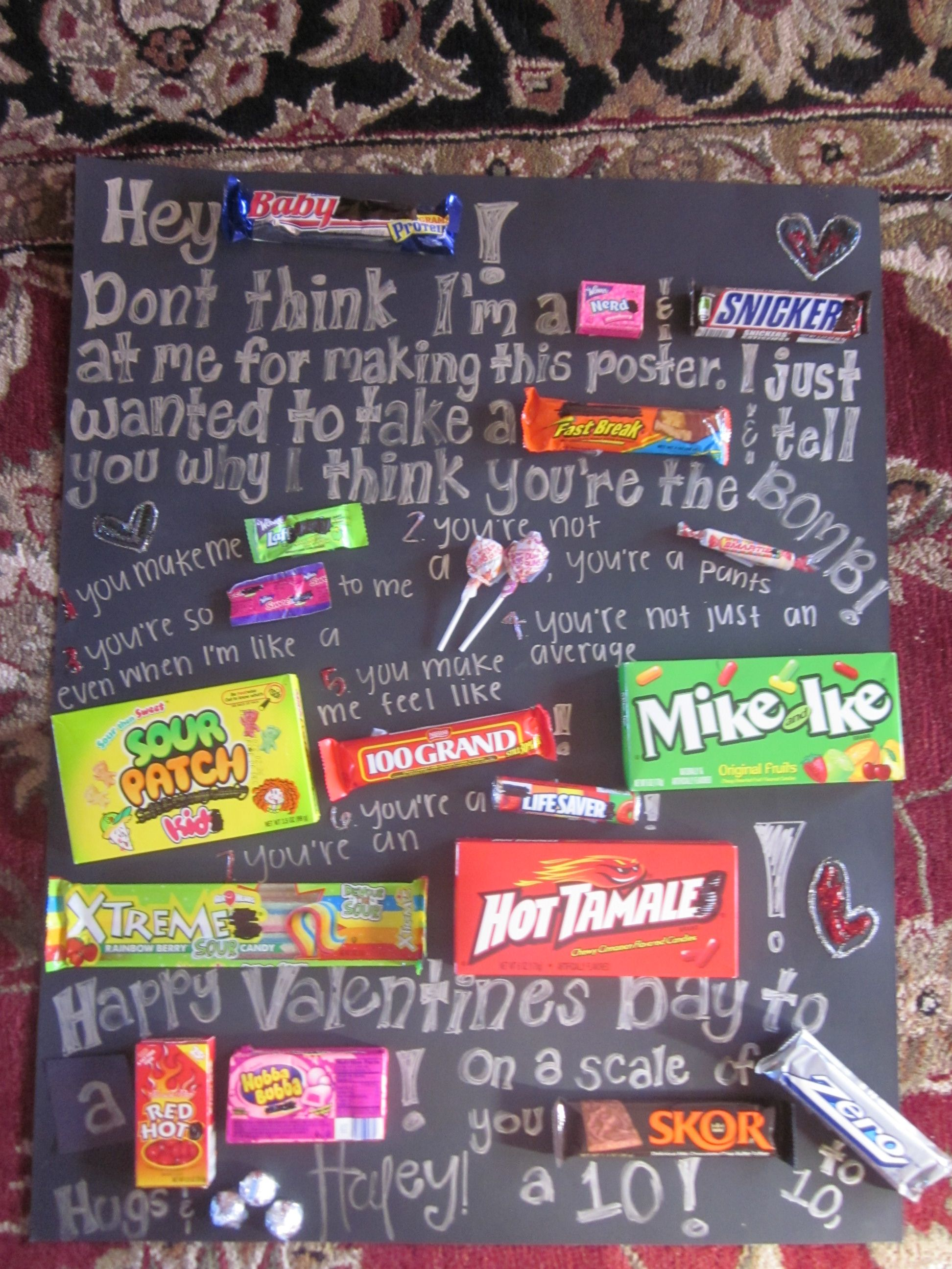 Its A Candy Gram So Easy To Make Buy Poster And Replace Some Words With Great Idea For Birthdays Valentines Gifts