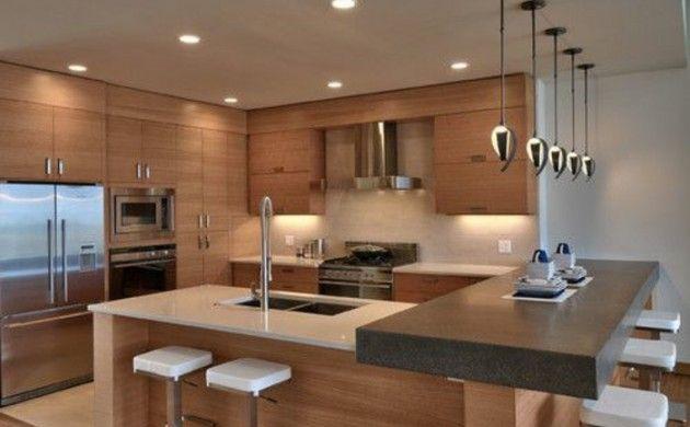 Moderne küchengestaltung ~ Küchengestaltung ideen holzküche planen trends küchen aktuell