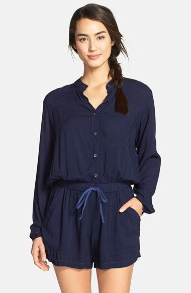 Hard Tail Long Sleeve Romper Available At Nordstrom