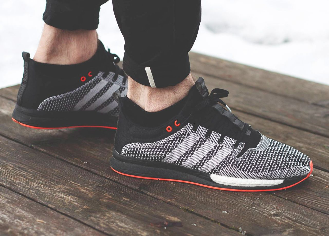 Adidas Adizero Feather Boost Black Grey Orange