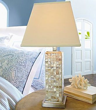 Cindy Crawford S Mother Of Pearl Table Lamps I M In Love With This Lamp