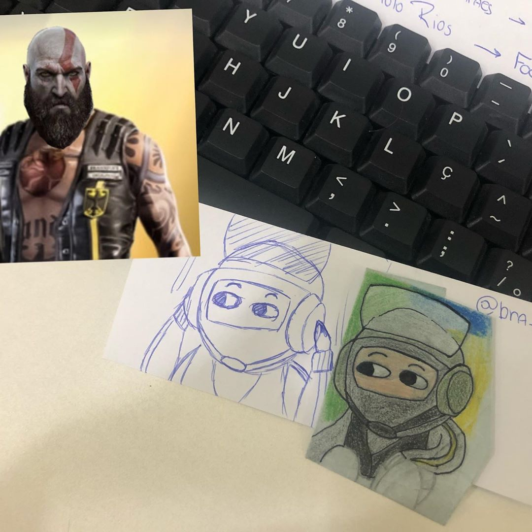 The New Bandit Elite And Kratos Are The Same Person Ubi Stop Blowing My Mind R6 Rainbowsixsiege Band Traveling By Yourself Insta Fashion Drawings