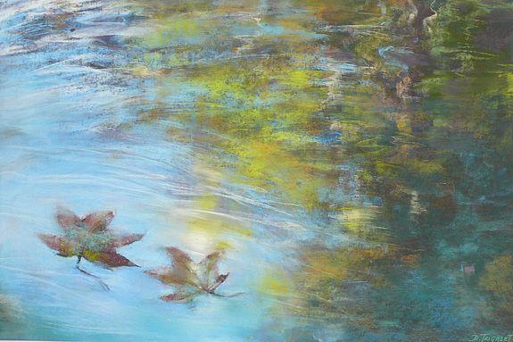 Au Fil De L Eau Daniele Trigalet Peinture Aquarelle Peinture Art