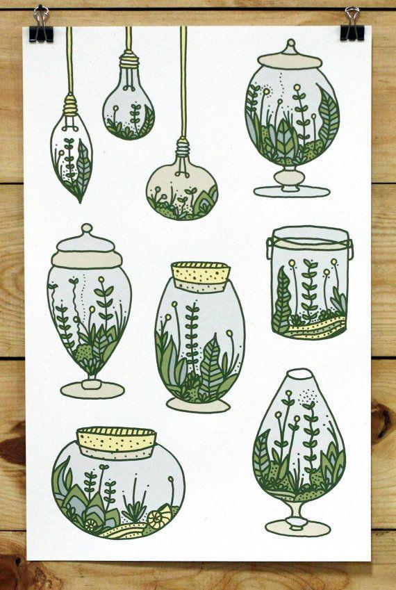Terrarium Obsession Print