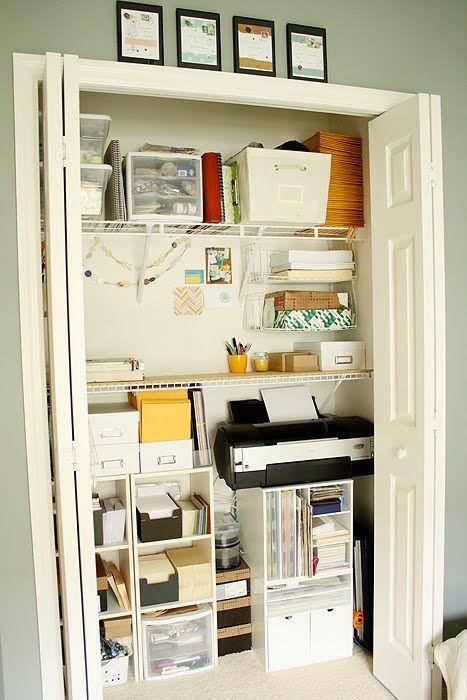 Ashlee Proffitt Design Ideas For Your Weekend Closet Makeover Home Office Closet Small Office Organization Closet Office Organization