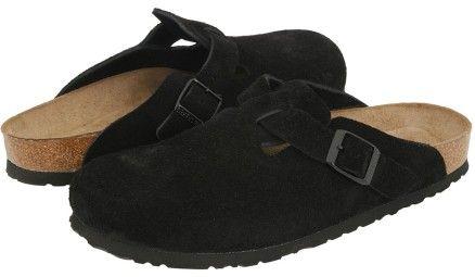 a074d16a09b15 Birkenstock Clogs – Boston Black Suede | Birkenstocks On Sale ...
