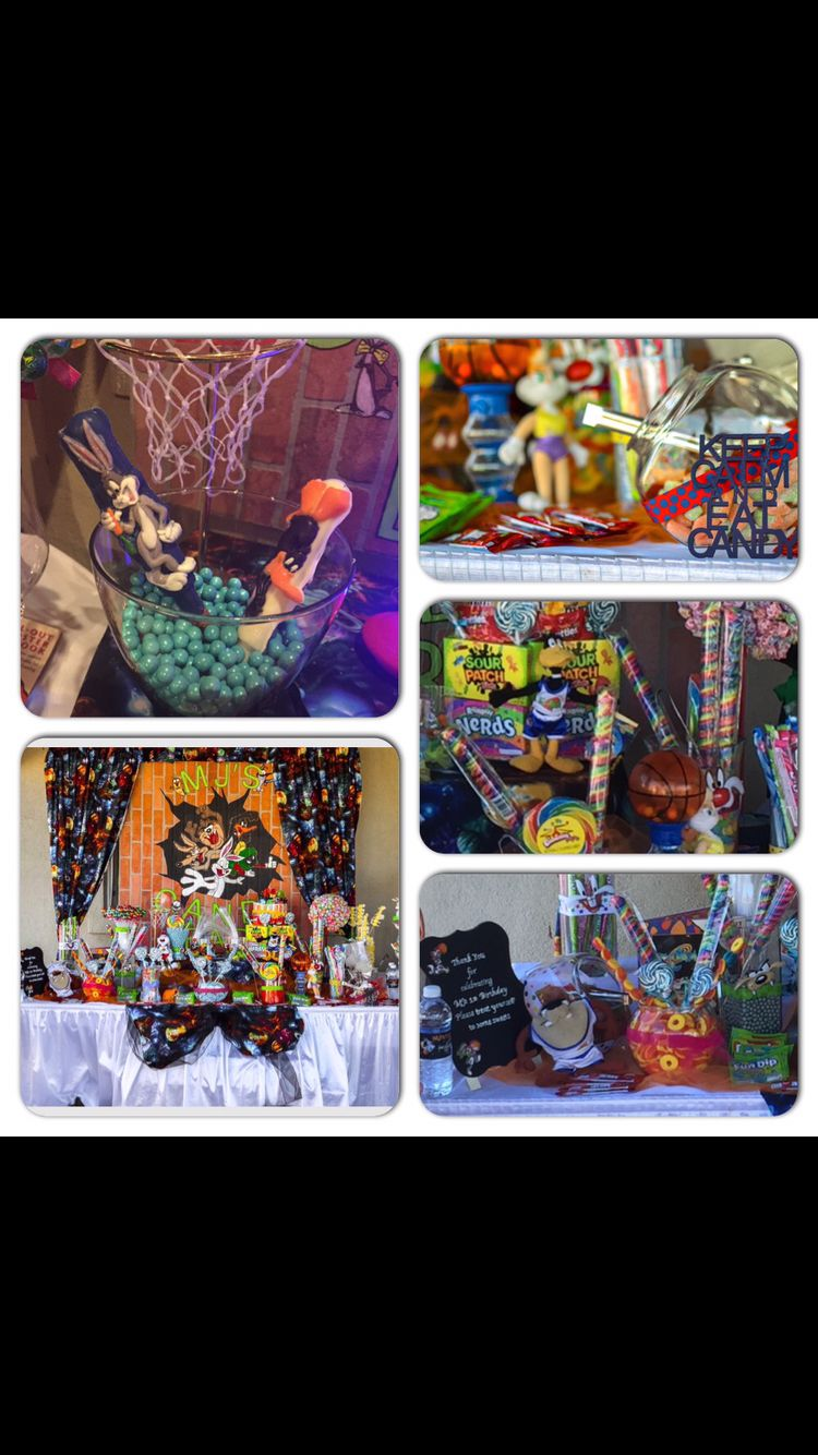 Space jam candy buffet space jam party pinterest for Sideboard jam
