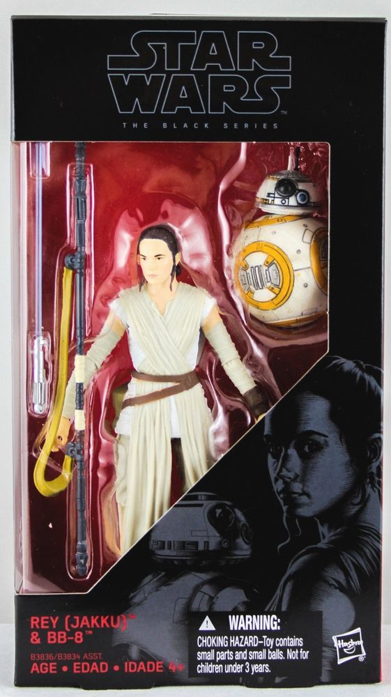 "Star Wars BLACK Series 6/"" scale #02 Rey w// Lightsaber BB-8 Force Awakens"