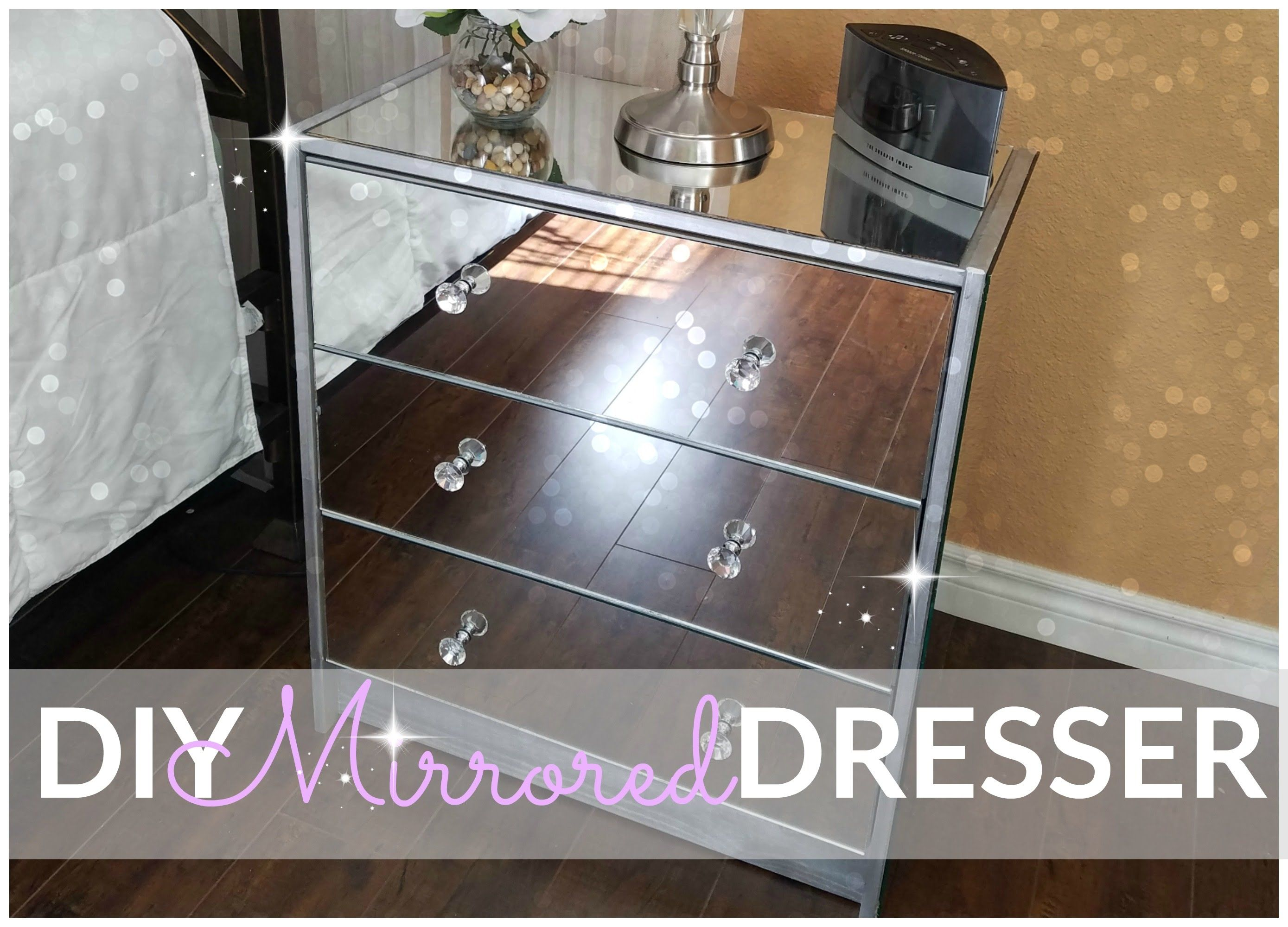 H O M E Diy Mirrored Dresser Ikea Hack
