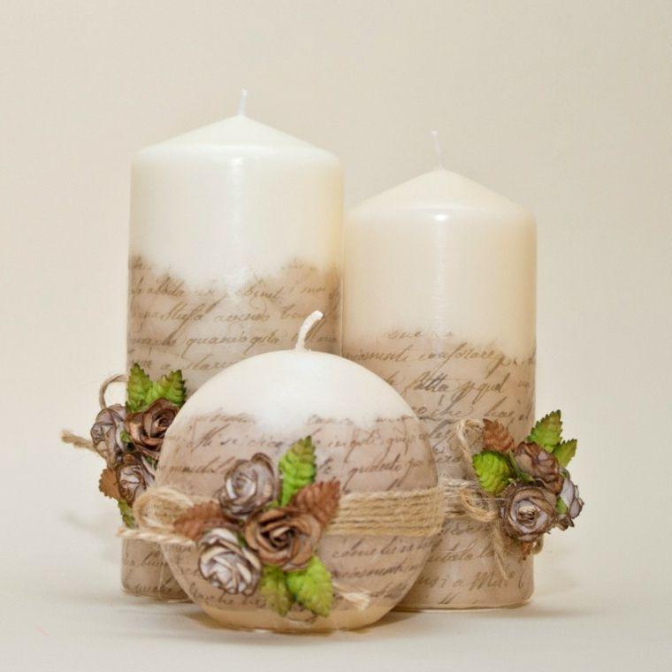 resultado de imagen para velas decoradas con perlas - Velas Decoradas