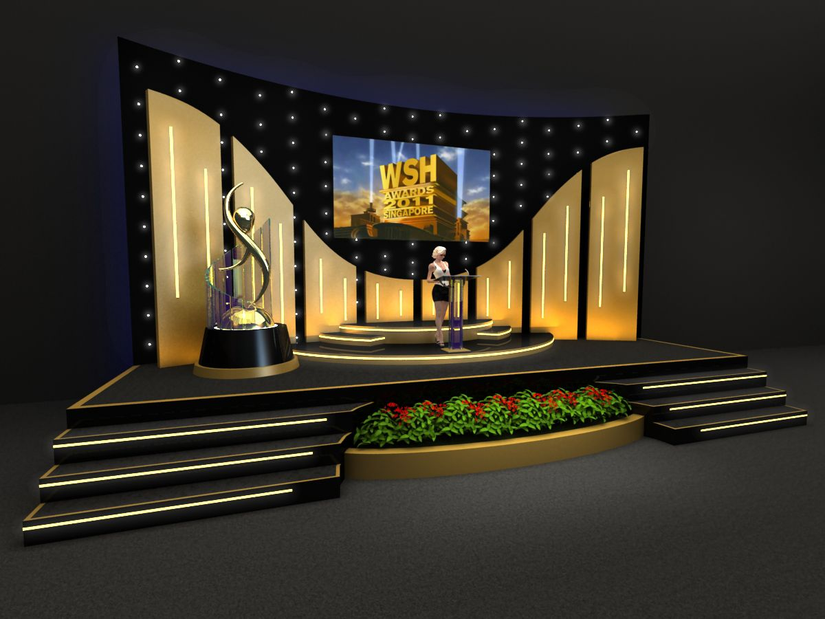 Stage Design 3d By Rommel Laurente At Coroflot Com Stage Set Design Church Stage Design Stage Design