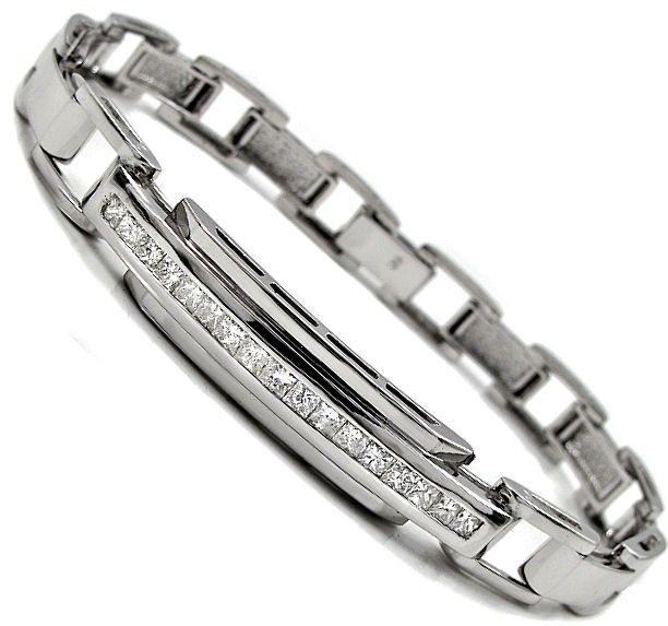 p Exquisite new channel set diamond bracelet 1 70ct s of princess