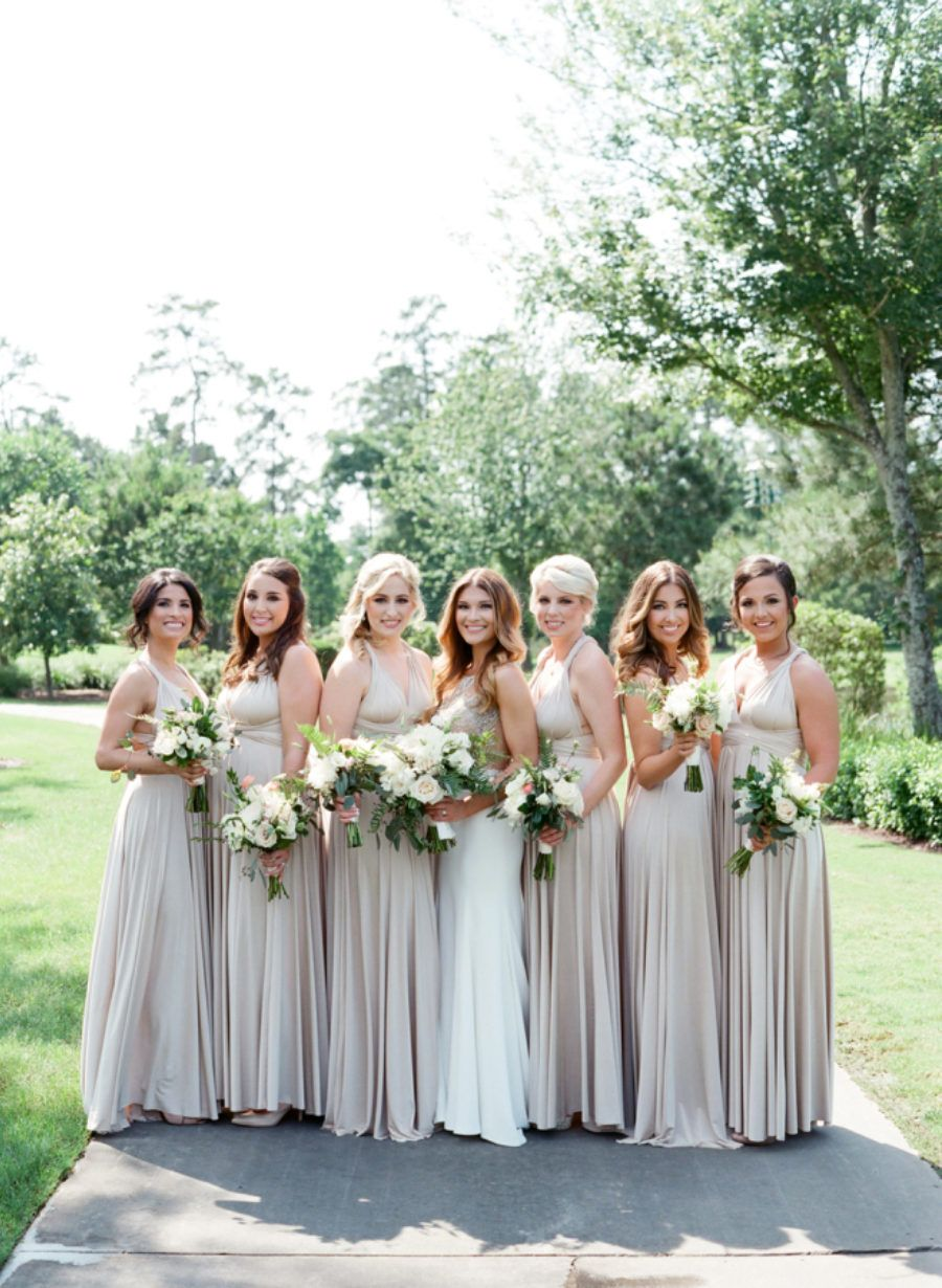 Gorgeous houston wedding in style me pretty oyster ballgowns gorgeous houston wedding in style me pretty oyster ballgowns twobirds bridesmaid dresses a real ombrellifo Image collections