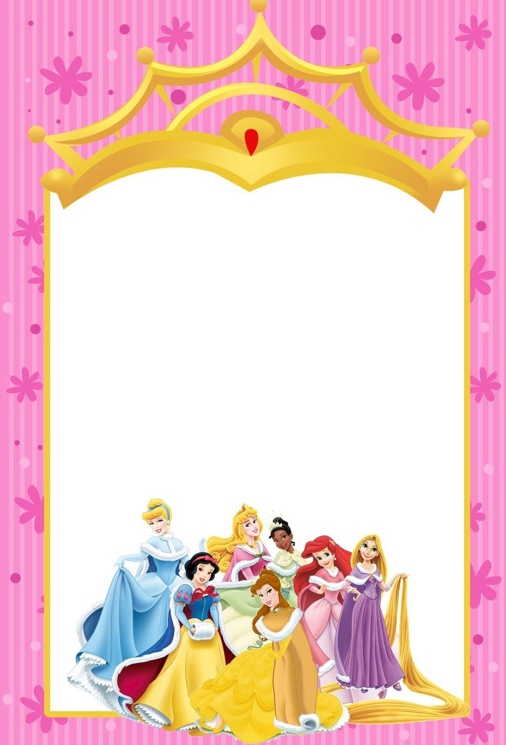 Printable Disney Princesses Invitations  Disney princess