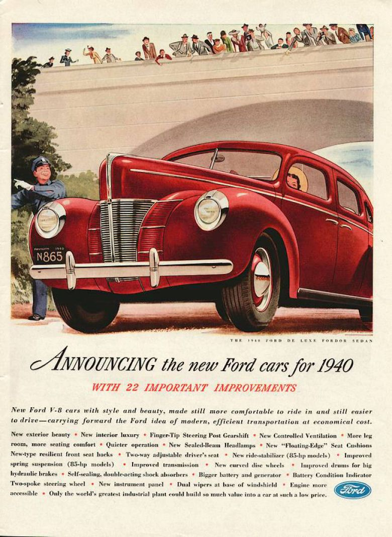 1940s advertising | old car ads home | old car brochures | old car ...