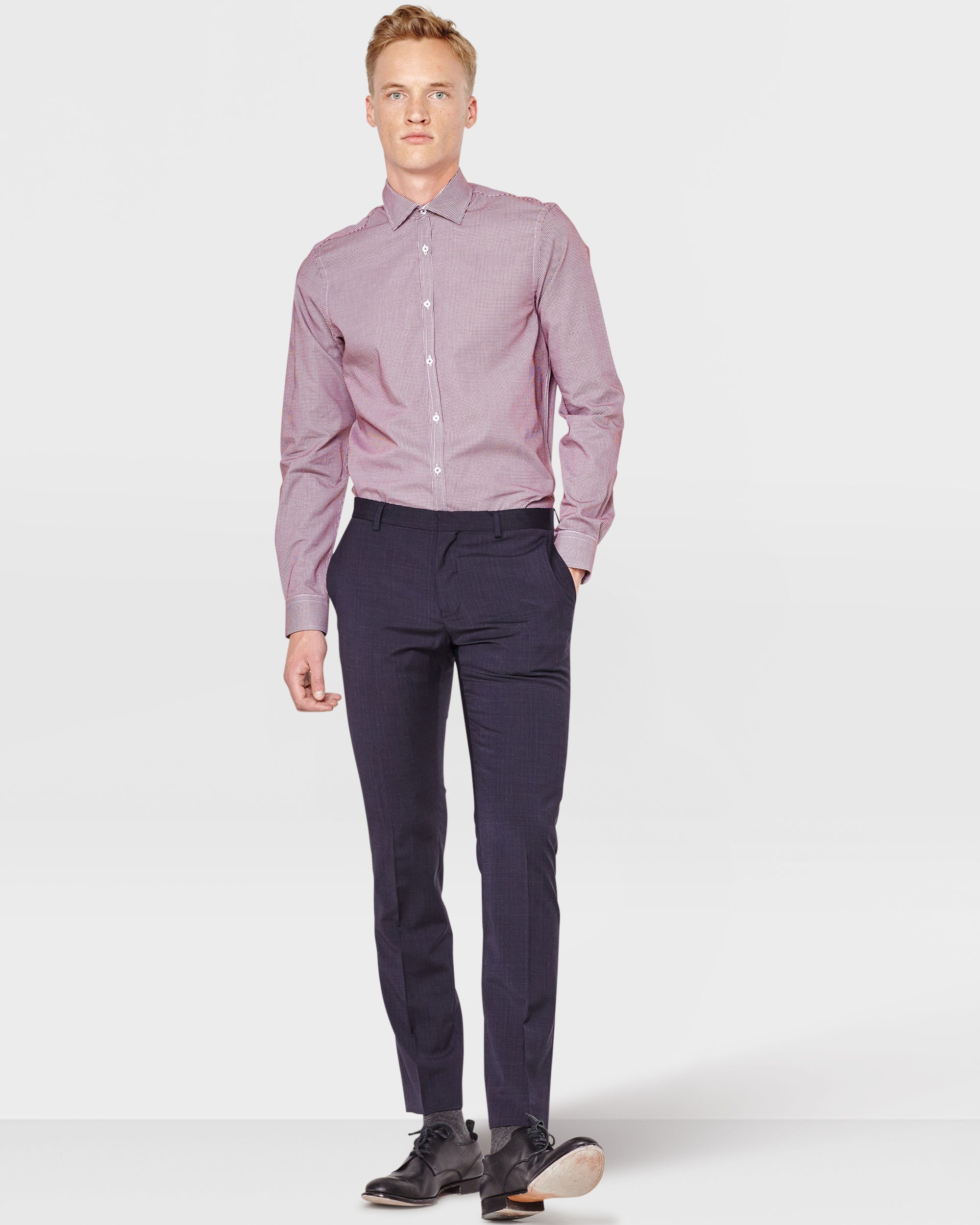 Heren Slim Fit Overhemd.Heren Slim Fit Overhemd Keating Trousers Suits