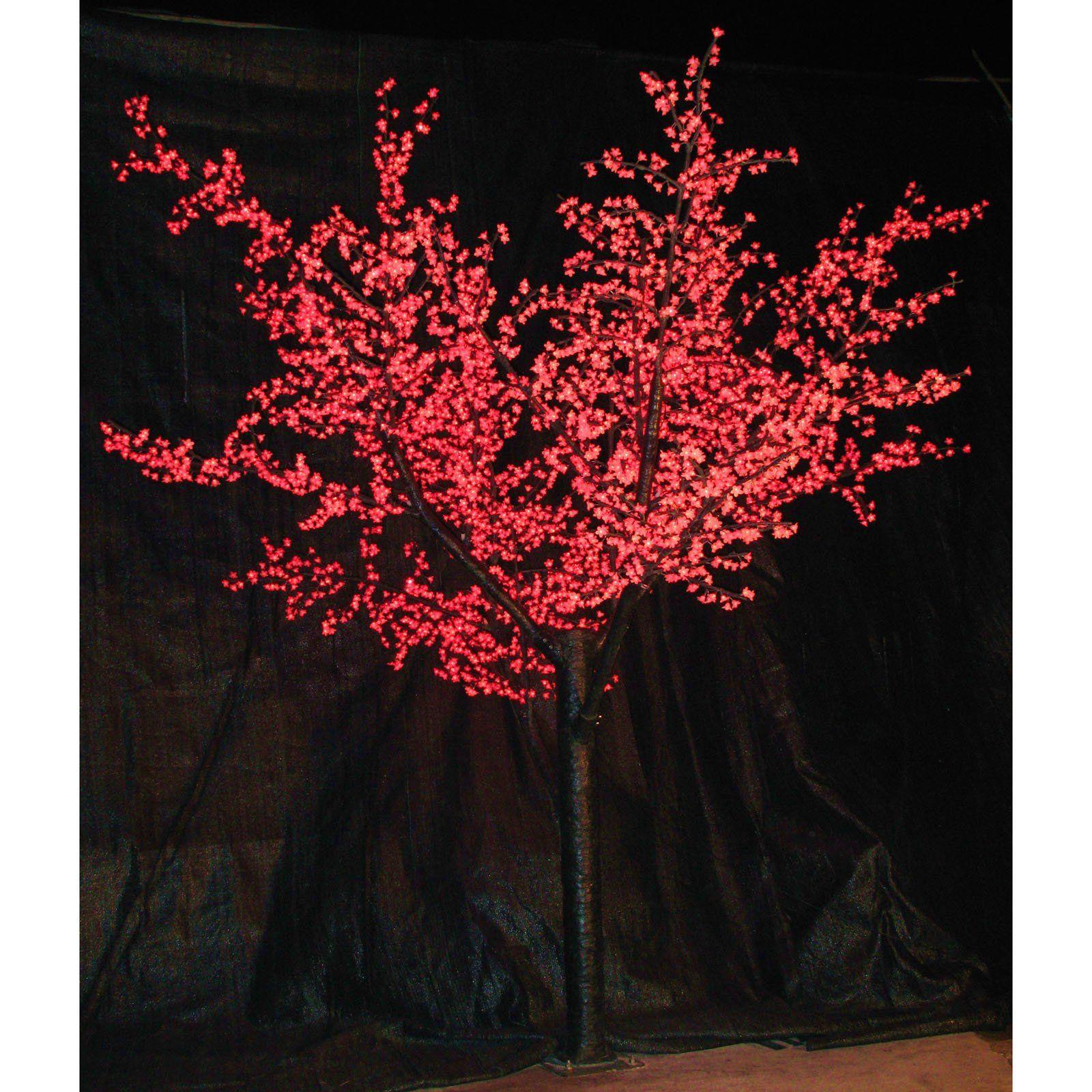12 Ft Pre Lit Led Cherry Blossom Tree Red Www Hayneedle Com Cherry Blossom Tree Event Decor Direct Led Lights