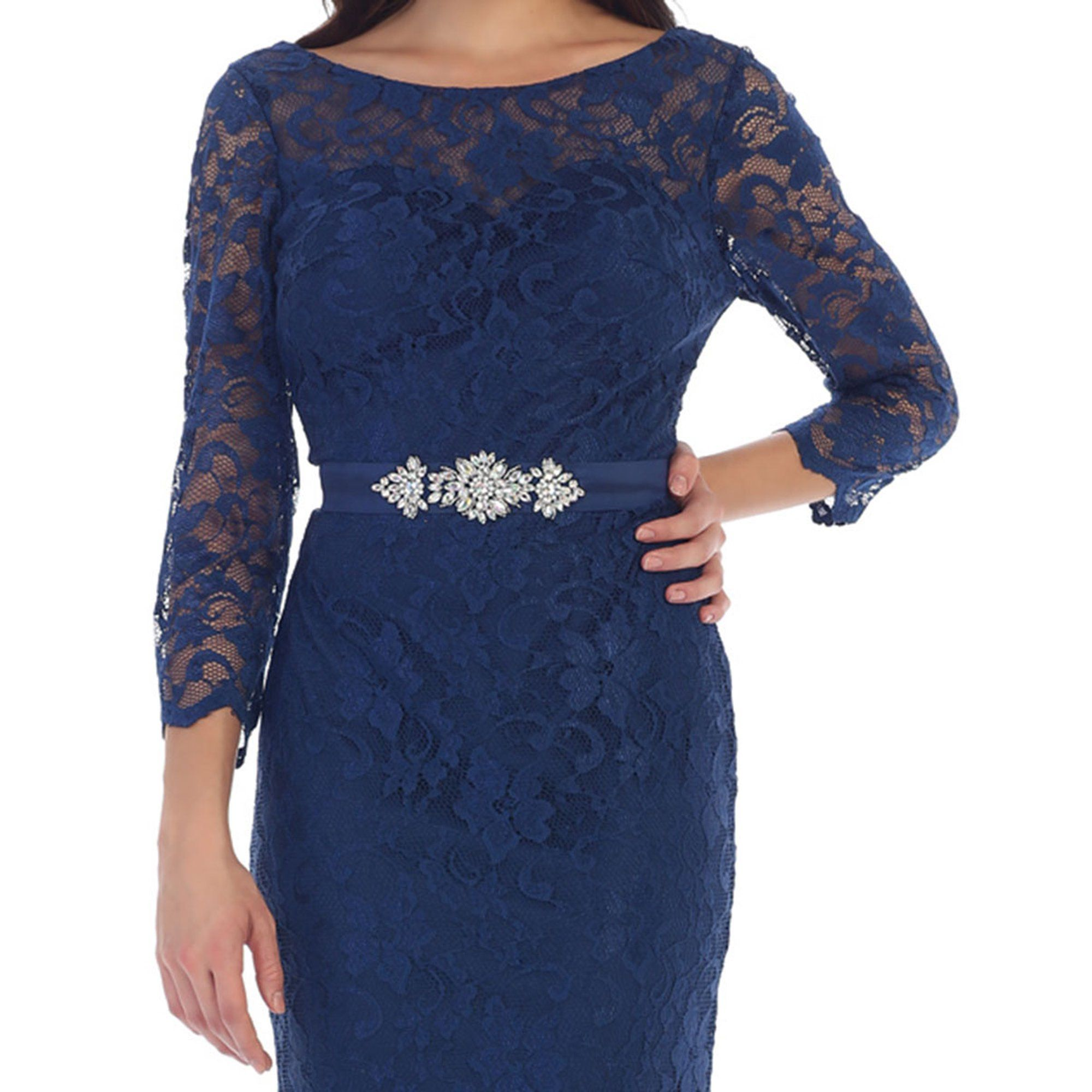 May Queen Elegant 3 4 Sleeve Lace Evening Gown Plus Size Walmart Com In 2021 Lace Evening Gowns Evening Gowns With Sleeves Evening Gowns [ 2000 x 2000 Pixel ]