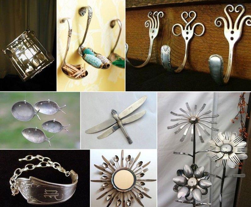 Recycling ideen basteln  altes besteck designideen-recycling ideen | basteln | Pinterest ...
