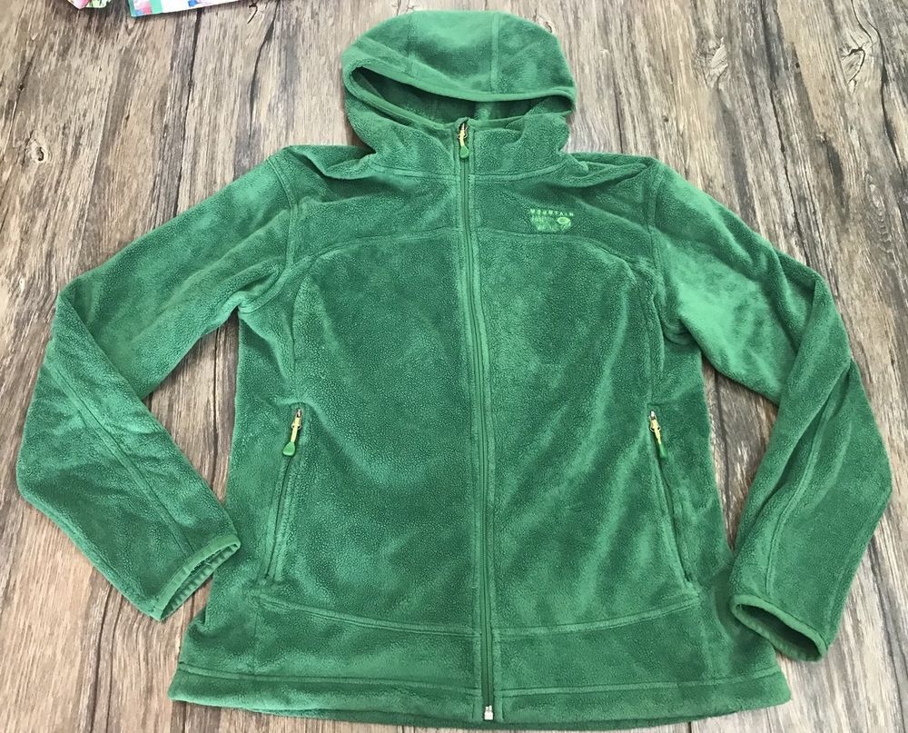 5c1368301 Mountain Hard Wear Jacket Green Fleece Full Zip Womens Sz L | Womens ...