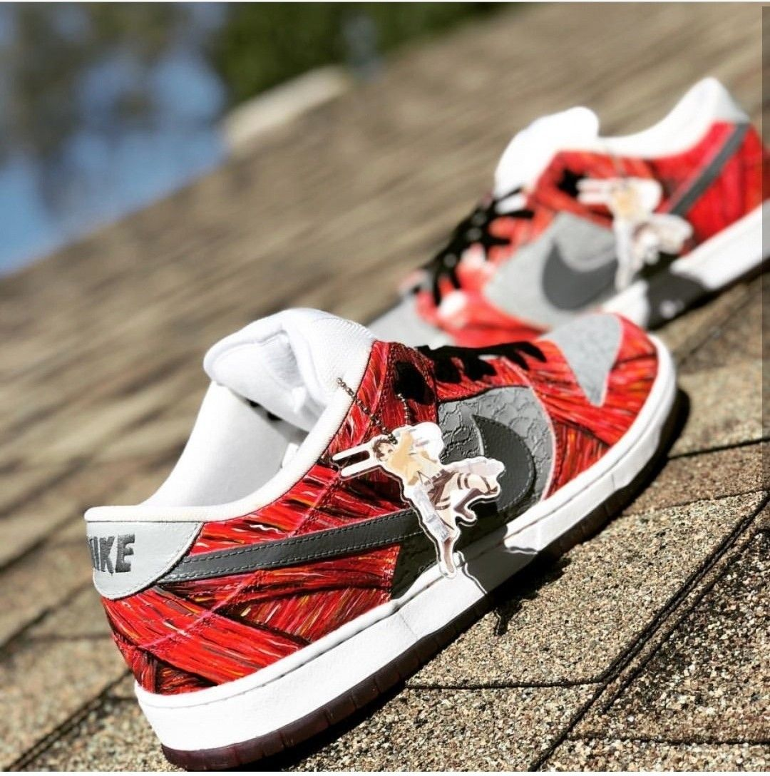 Cop or drop these attack on titan custom painted nike