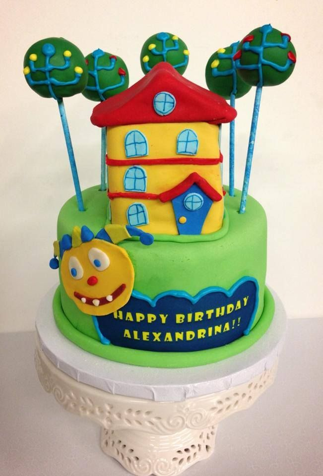Surprising Hugglemonsters Themed Birthday Cake Starring Henry His House And Funny Birthday Cards Online Alyptdamsfinfo