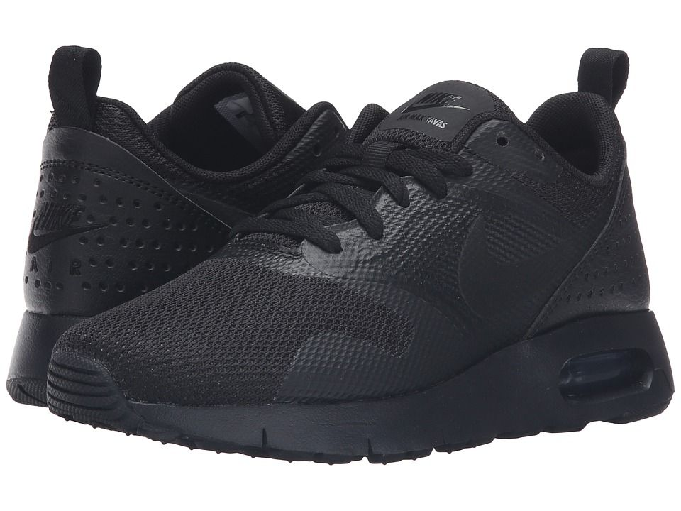 e198715d51 Nike Kids Air Max Tavas GS (Big Kid) Boys Shoes Black/Black ...
