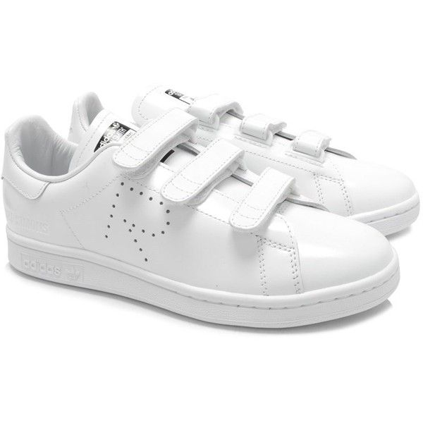 Adidas Originals X Raf Simons Stan Smith Comfort Sneakers ($270) ❤ liked on  Polyvore featuring men's fashion, men's shoes, men's sneakers, white, ...