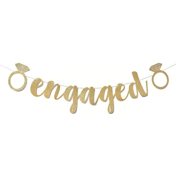 Engagement Party Decorations | Engaged Banner | Engagement Party Ideas | Engagement Party Decor | Engagement Party Sign | Engagement Banner #decorationengagement